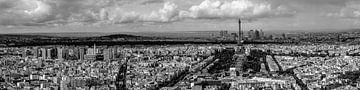 Black & White Panorama van Parijs von Martijn Kerssing