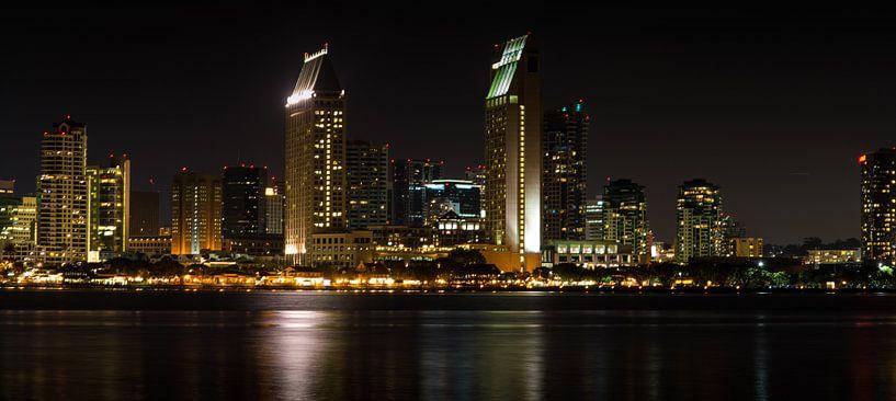 San Diego skyline van Arjan van Roon