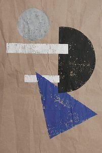 Graphique abstrait noir blanc gris violet sur jolanda verduin