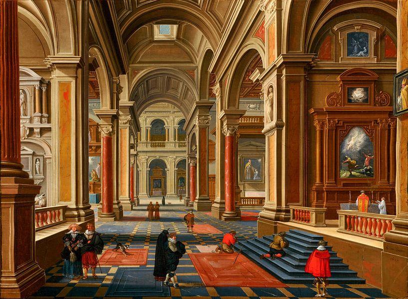 Interieur van een katholieke kerk, Bartholomeus van Bassen van Meesterlijcke Meesters