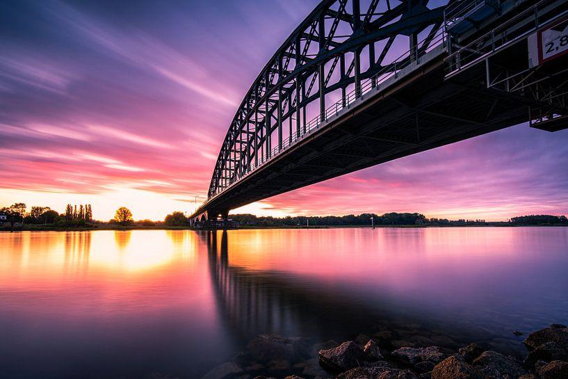 De Oude IJsselbrug bij Zwolle van Fotografiecor .nl