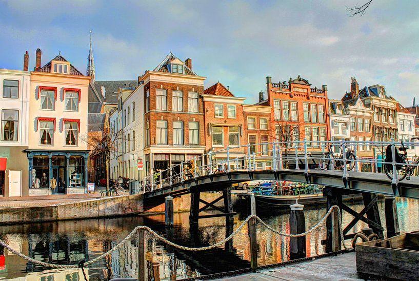 Oude Rijn Leiden Nederland van Hendrik-Jan Kornelis