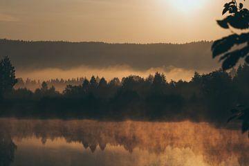 Sonnenaufgang in Schweden von Koen Bluijs