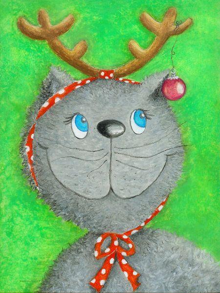 Kerstmis Kat Lina van Atelier BuntePunkt