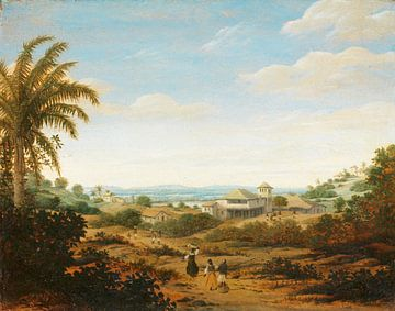 Landschap op de Rio Senhor de Engenho, Brazilië, Frans Jansz Post