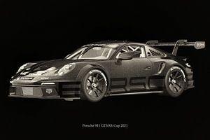 Porsche 911 GT-3 RS 2021 raceversie 2 van Jan Keteleer
