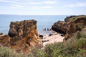 the rocks of lagos in the algarve portgal