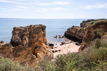 the rocks of lagos in the algarve portgal von
