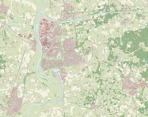 Kaart vanZutphen van Rebel Ontwerp