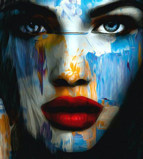 Gewoon gezicht - abstract spel - 899