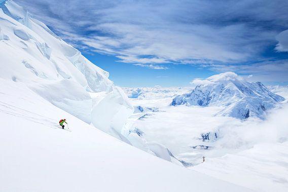 Ski Denali, Alaska van Menno Boermans