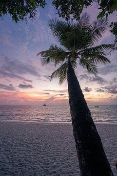 Sonnenuntergang auf den Malediven von Michiel Dros