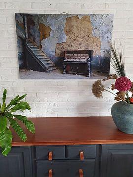 Klantfoto: Oude piano, old piano, van Chantal Golsteijn