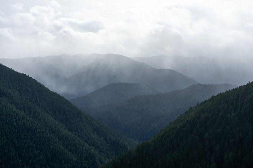 Regen in de bergen van Rauw Works