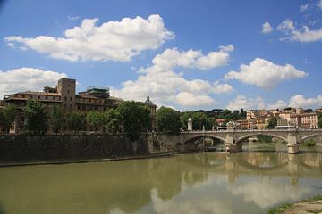 De Tiber in Rome von Furdjil de Lange