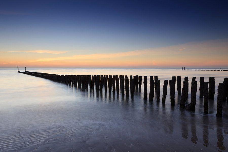 zonsondergang in Zeeland van gaps photography