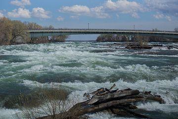 Niagara rivier in aanloop naar de watervallen van Harm-Jan Tamminga