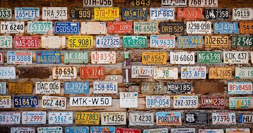 USA numberplates von Laura Vink