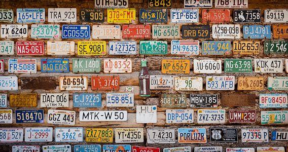 Nummerborden USA van Laura Vink