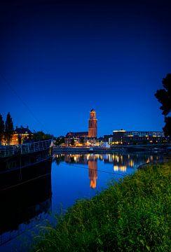 View on Zwolle at night sur Sjoerd van der Wal