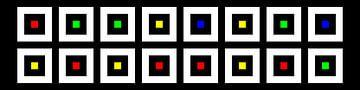 Nested | Center | 08x02 | N=02 | Random #02 | RGBY van Gerhard Haberern