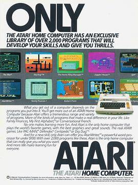 Vintage Werbung 1983 ATARI computer von Jaap Ros