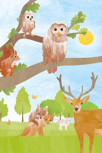 Dieren in het bos van Karin van der Vegt