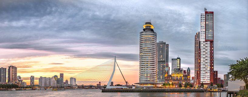Kop van zuid met Erasmusbrug van Prachtig Rotterdam