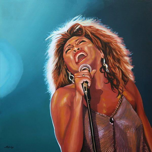 Tina Turner Schilderij 3 van Paul Meijering