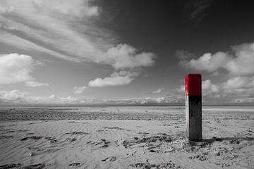 Strandpaal op Terschelling van Foto van Anno