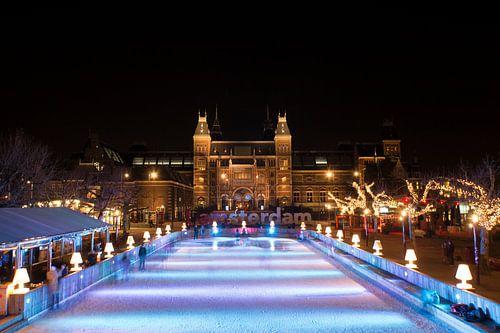 Rijksmuseum en de schaatsbaan
