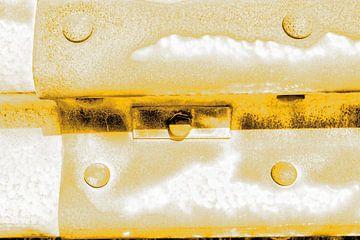 Minimalisme Art Photographie Vangrail Gold sur Hendrik-Jan Kornelis