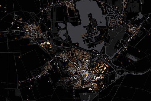 Kaart van Winschoten abstract van