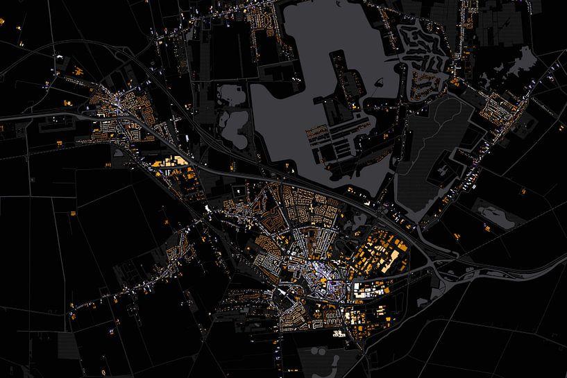 Kaart van Winschoten abstract van Stef Verdonk