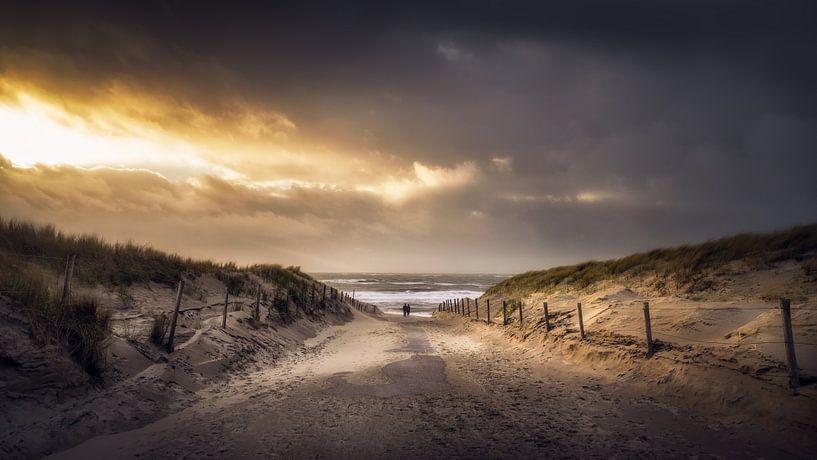 De weg naar het strand sur Klaas Fidom