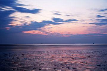 Zonsondergang IJmuiden Strand van Patrick Kerkhoff