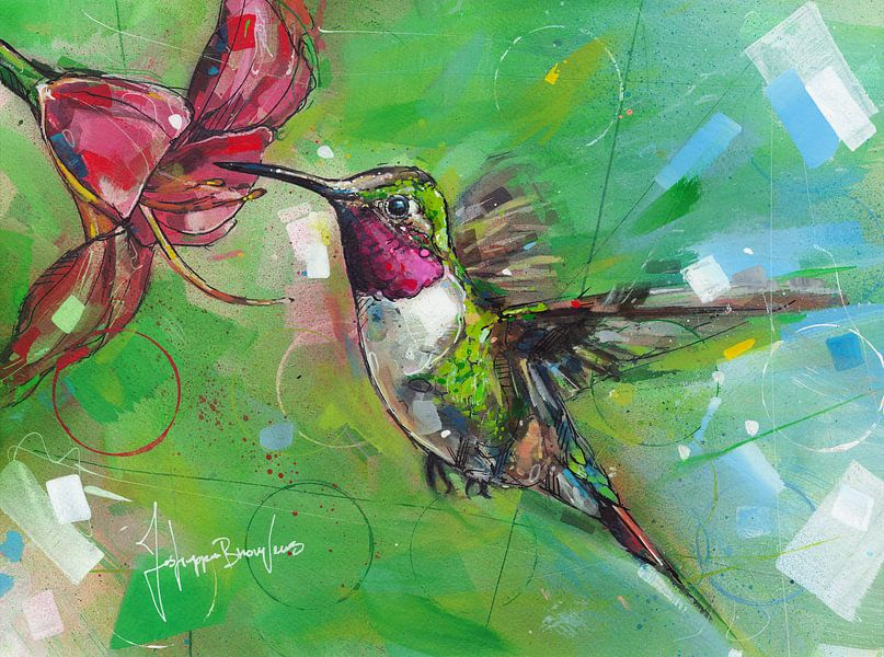 Kolibri Malerei von Jos Hoppenbrouwers