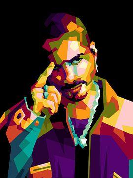 Icon  rapper J Balvin von miru arts