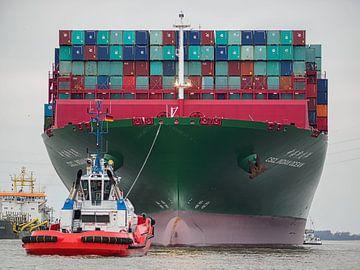 2016-02-06 Containerschiff CSCL Indian Ocean von Joachim Fischer