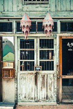 Huis in Shennong Street, Tainan, Taiwan van Expeditie Aardbol