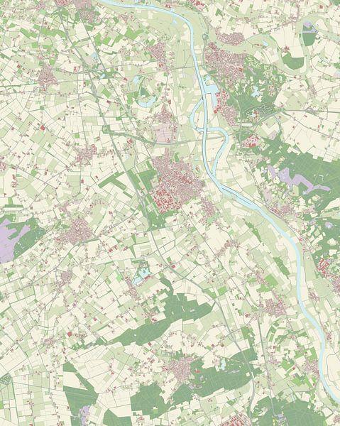 Kaart vanBoxmeer van Rebel Ontwerp