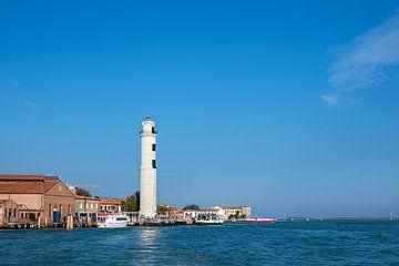 Leuchtturm auf der Insel Murano bei Venedig in Italien von Rico Ködder