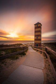 Leuchtturm der Kapdünen Low Dishoek von Thom Brouwer