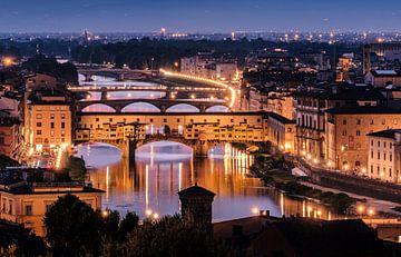 Ponte Vecchio - avond van Henk Verheyen