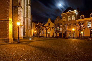 Kerkplein Hooglandse kerk in Leiden
