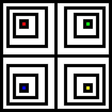 Genesteld | Compensatie | 02x02x02x02 | N=04 | V40 | RGBY van Gerhard Haberern