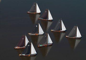Skûtsjesilen zijn de Friese zeilwedstrijden met skûtsjes van Sky Pictures Fotografie