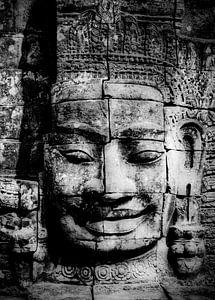 Angkor Thom - Boeddha in Angkor Tempelcomplex van Marie-Lise Van Wassenhove