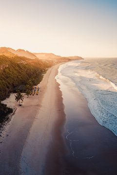 Pipa strand zonsondergang 2 van Andy Troy