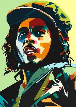 Rasta Reggae Pop Art WPAP von SW Artwork